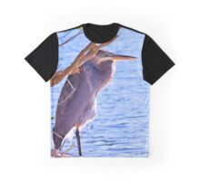 Blue Heron At The Market Common Graphic T-Shirt