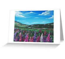 Lupine Hills Greeting Card