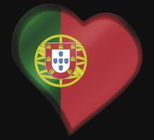 Portuguese Flag - Portugal - Heart by graphix