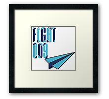 Flight 009: Blue Framed Print