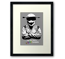 I'm The Stig's Wacky Cousin Framed Print