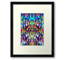Colorful digital art splashing Framed Print