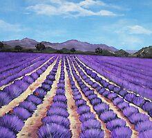 Lavender Field in Provence by Anastasiya Malakhova