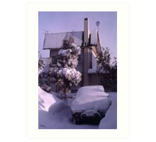 Overnight Snow, Sapporo, Hokkaido, Japan Art Print