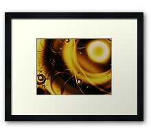 Golden Halo Framed Print