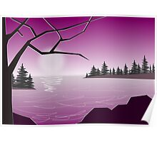 Purple Lake Poster