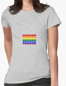 LGBT Rainbow Portholes - WHITE - Style 2 Womens Fitted T-Shirt