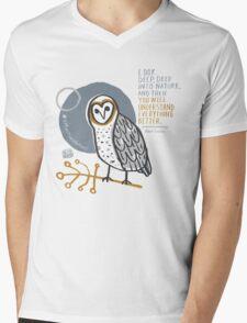 BioBlitz masked owl Mens V-Neck T-Shirt