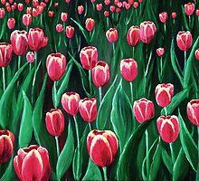 Pink Tulip Field by Anastasiya Malakhova