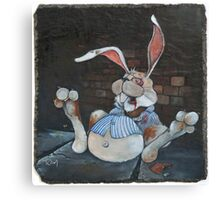Mugged Bunny Canvas Print