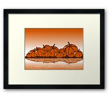 Orange Harvest Framed Print