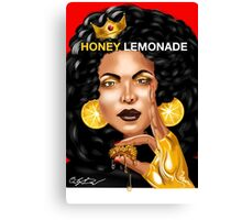 Honey Lemonade: Beyonce Fan Tee (red w/text) Canvas Print