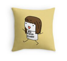Eff your comfort. Throw Pillow