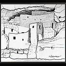 Arizona cliff dwelling by James Lewis Hamilton