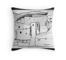 Arizona cliff dwelling Throw Pillow