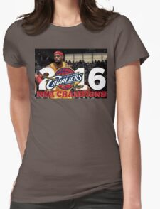 Cleveland Cavaliers Champions!! FINALLY NBA CHAMPS Womens Fitted T-Shirt