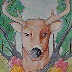 Deer Watercolor by LovelessDGrim
