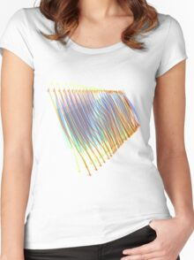 Abstract Waves  Women's Fitted Scoop T-Shirt