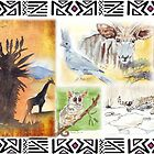 African collage - Ethnic series by Maree  Clarkson