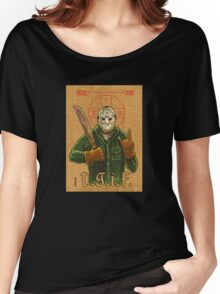 Religious Horror Icon-Jason Voorhees-T.G.I.F.-Friday the 13th Women's Relaxed Fit T-Shirt