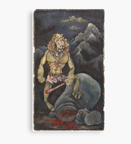 Killer Lion Canvas Print