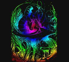Psychadelic Mushroom Alice in Wonderland Unisex T-Shirt