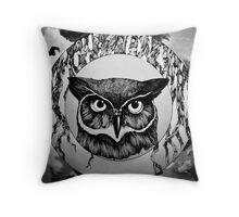 Ring of Owl Throw Pillow