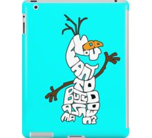 Olaf Outlined: Do You Want to Build a Snowman? iPad Case/Skin