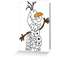 Olaf Outlined: Do You Want to Build a Snowman? Greeting Card
