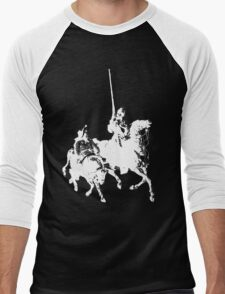 Don Quixote and Sancho Panza Men's Baseball ¾ T-Shirt