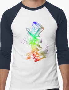 Psychedelic Mad Hatter Trippy Alice Men's Baseball ¾ T-Shirt