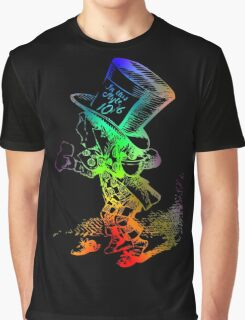 Psychedelic Mad Hatter Trippy Alice Graphic T-Shirt