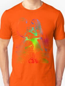 Psychedelic Alice With Colorful Flamingo Unisex T-Shirt
