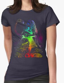Psychedelic Alice With Colorful Flamingo Womens Fitted T-Shirt