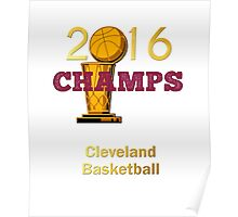 Cleveland basketball 2016 Champions Poster