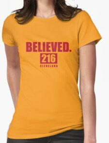 Believed - Cleveland - Finals tee Womens Fitted T-Shirt