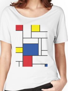 Mondrian Minimalist De Stijl Art Women's Relaxed Fit T-Shirt