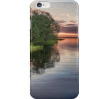 Lake Sunrise - the summer sun rises over a lake in southern Sweden. iPhone Case/Skin