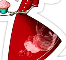 Sweet & Scary Skeleton Pin Up Girl Sticker