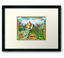 Rambunctious Rabbits Framed Print