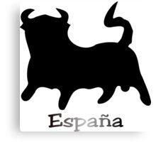 Black Bull España Canvas Print
