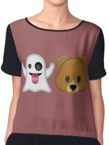Ghost Bear 53 Emoji Chiffon Top