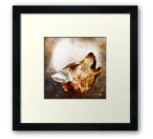 abstract howling wolf Framed Print