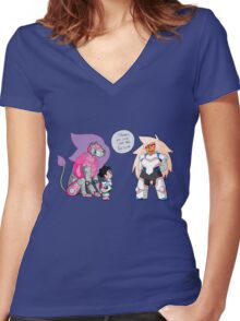 The Pink Paladin Women's Fitted V-Neck T-Shirt