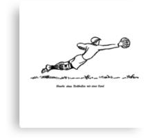 Goalie Defense (schoolbook illu 50s) Canvas Print