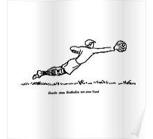 Goalie Defense (schoolbook illu 50s) Poster