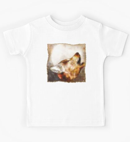 abstract howling wolf Kids Tee