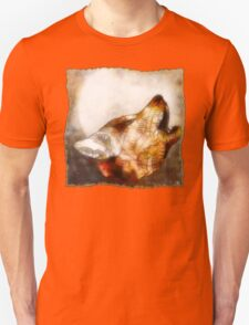 abstract howling wolf T-Shirt