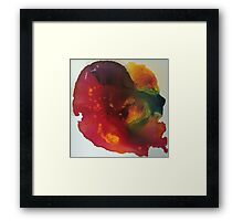 Fluid in Red  Framed Print