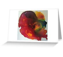 Fluid in Red  Greeting Card